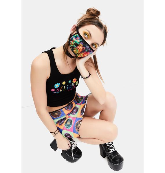 dELiA*s by Dolls Kill Social Butterfly Tie Dye Face Mask