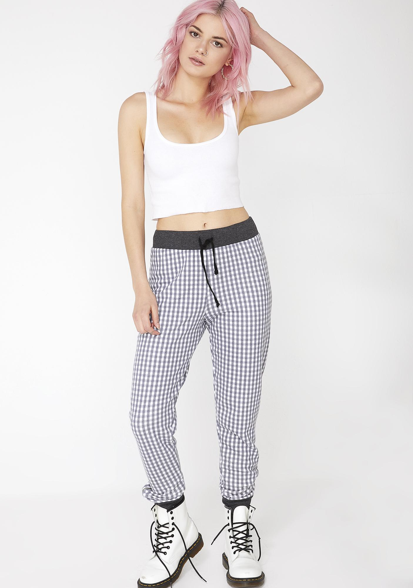 Wildfox Couture Gingham Gwen Jogger