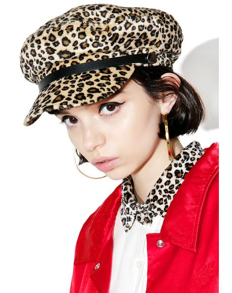 Leopard Toni Page Boy Hat