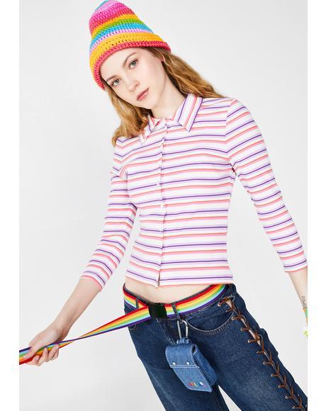 Get A Clue Striped Sweater