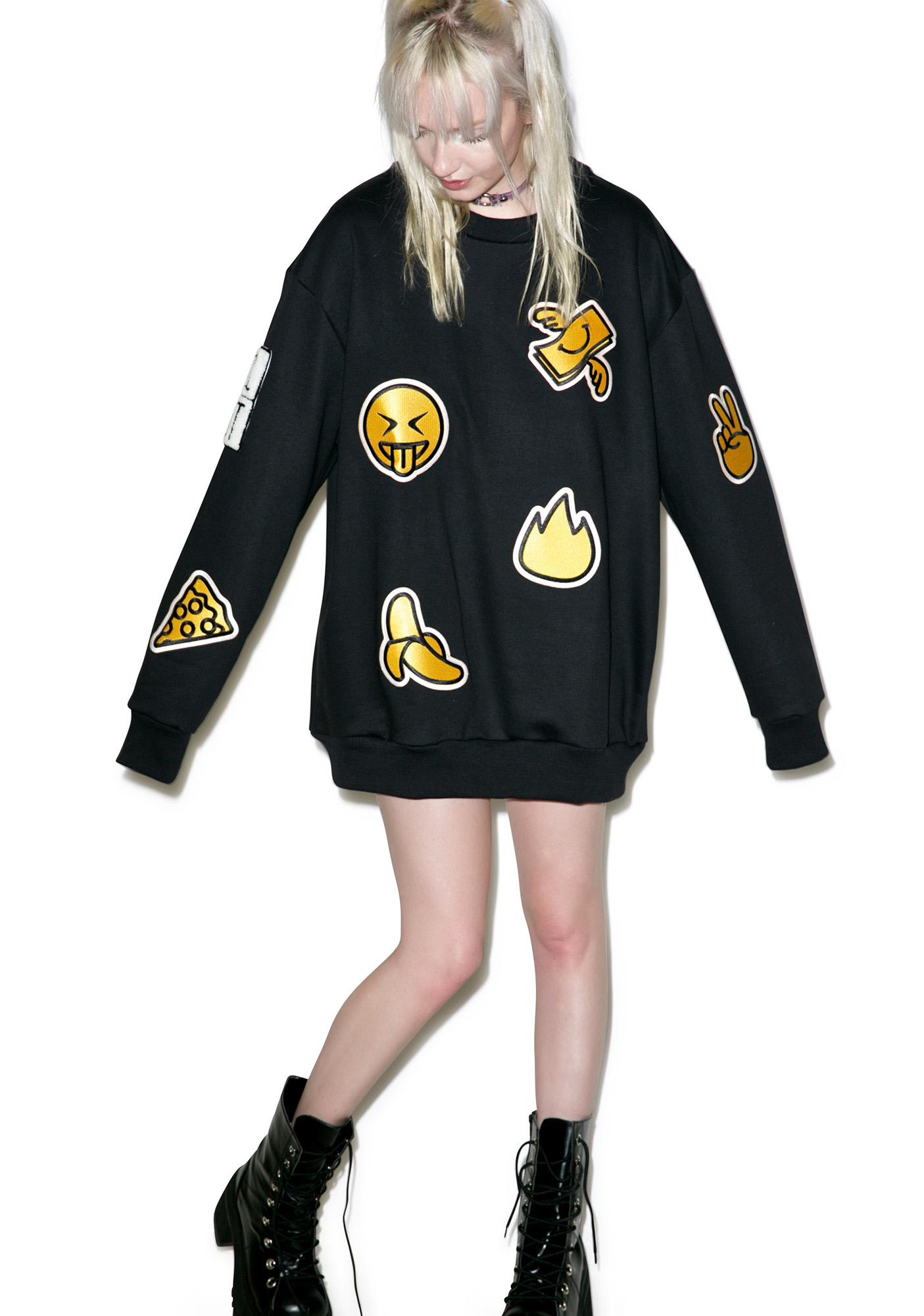 Cool Shit Emoji Sweatshirt