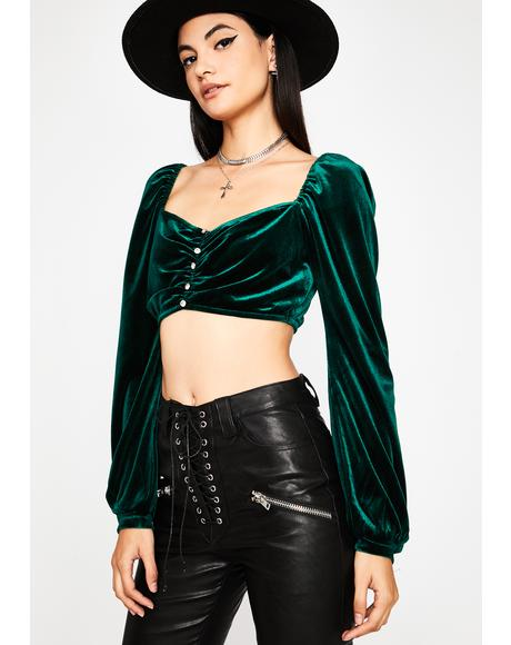 Emerald Willow's Grace Velvet Top