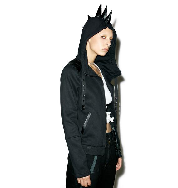 Punk Rave Hydra Spiked Hoodie