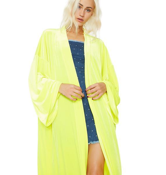 Jaded London Velvet Kimono
