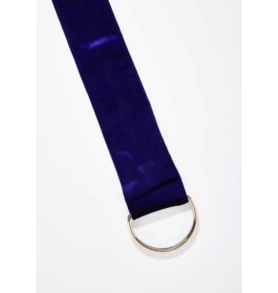 What A Waist Velvet Belt