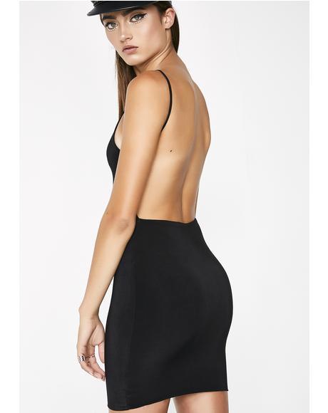 Noir Adore You Backless Dress