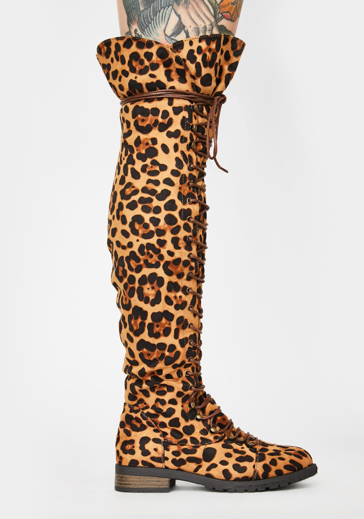 Wild Harsh Fight Lace Up Boots
