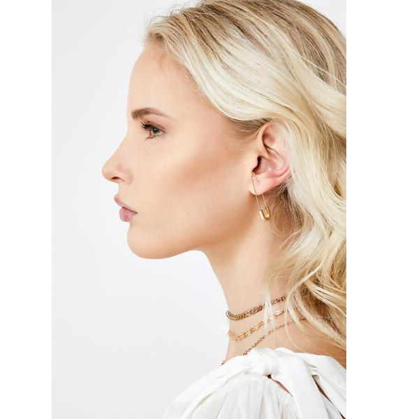 Not Delicate Safety Pin Earrings