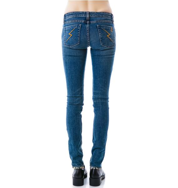 JET by John Eshaya Skinny Army Patch Jeans