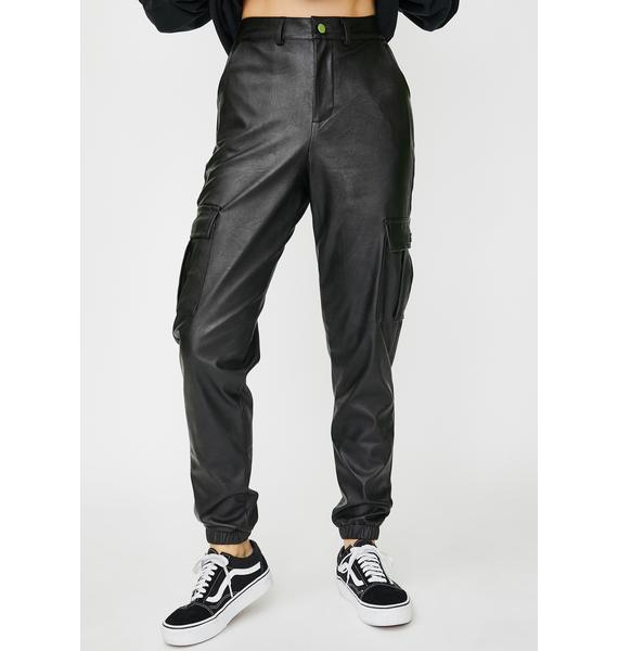 Daisy Street Vegan Leather Cargo Pants