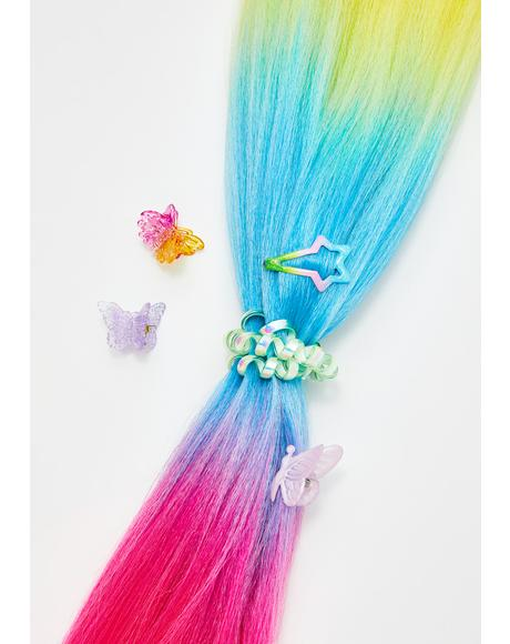 Neon Rainbow Add In Hair Extensions