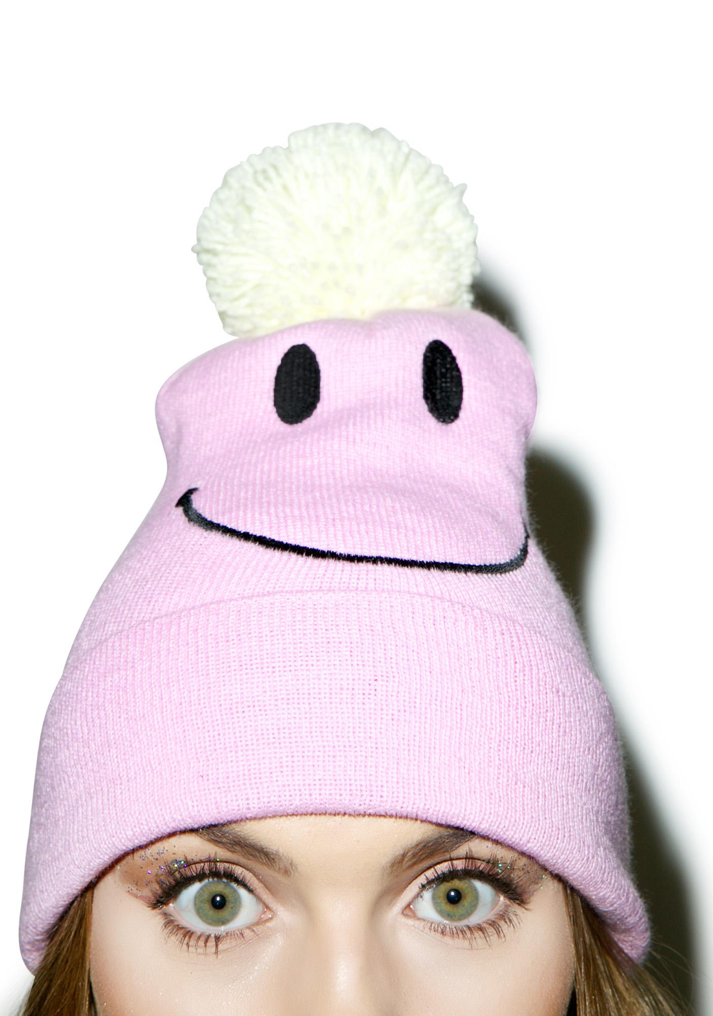 Local Heroes Smiley Pom-Pom Beanie