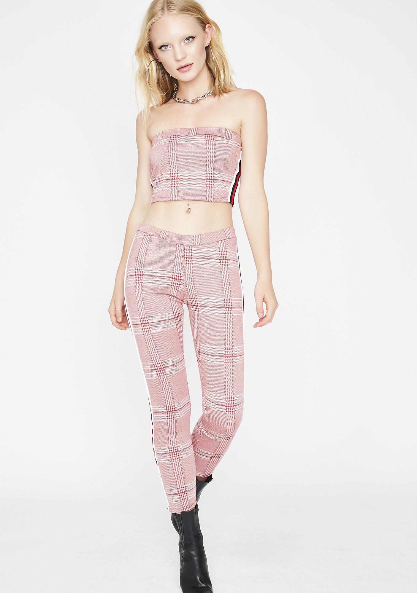 Breakin Habits Plaid Set