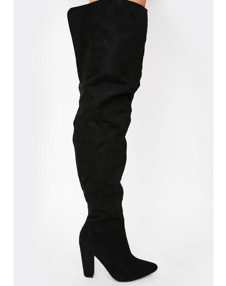 Tragic Fatal Revolution Thigh High Boots