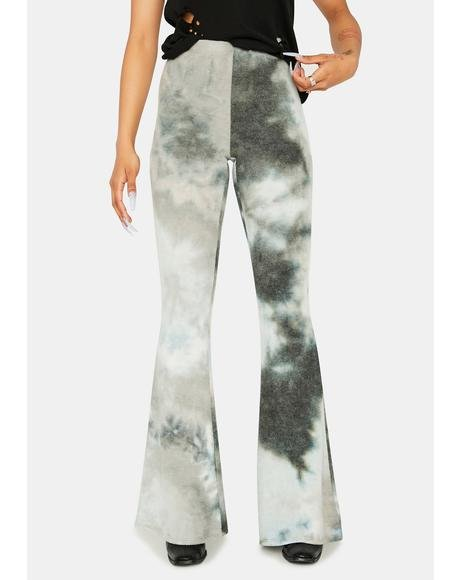 Jade Moving Up Tie Dye Flares