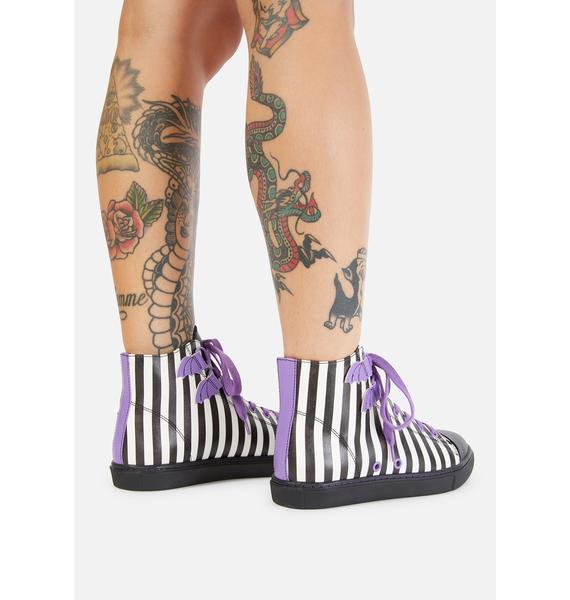 Strange Cvlt Striped Deetz Chelsea Ankle Boots
