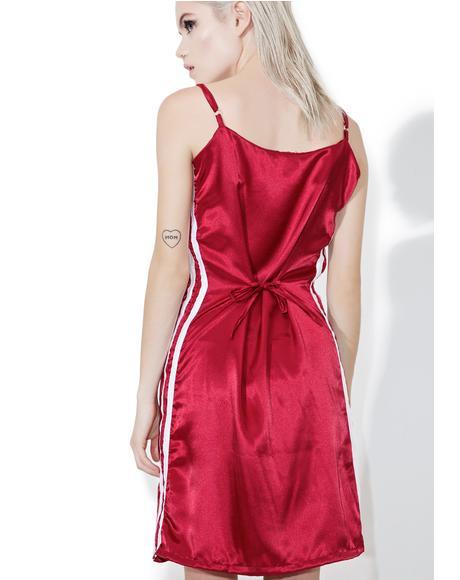 Maroon Silk Kitten Dress