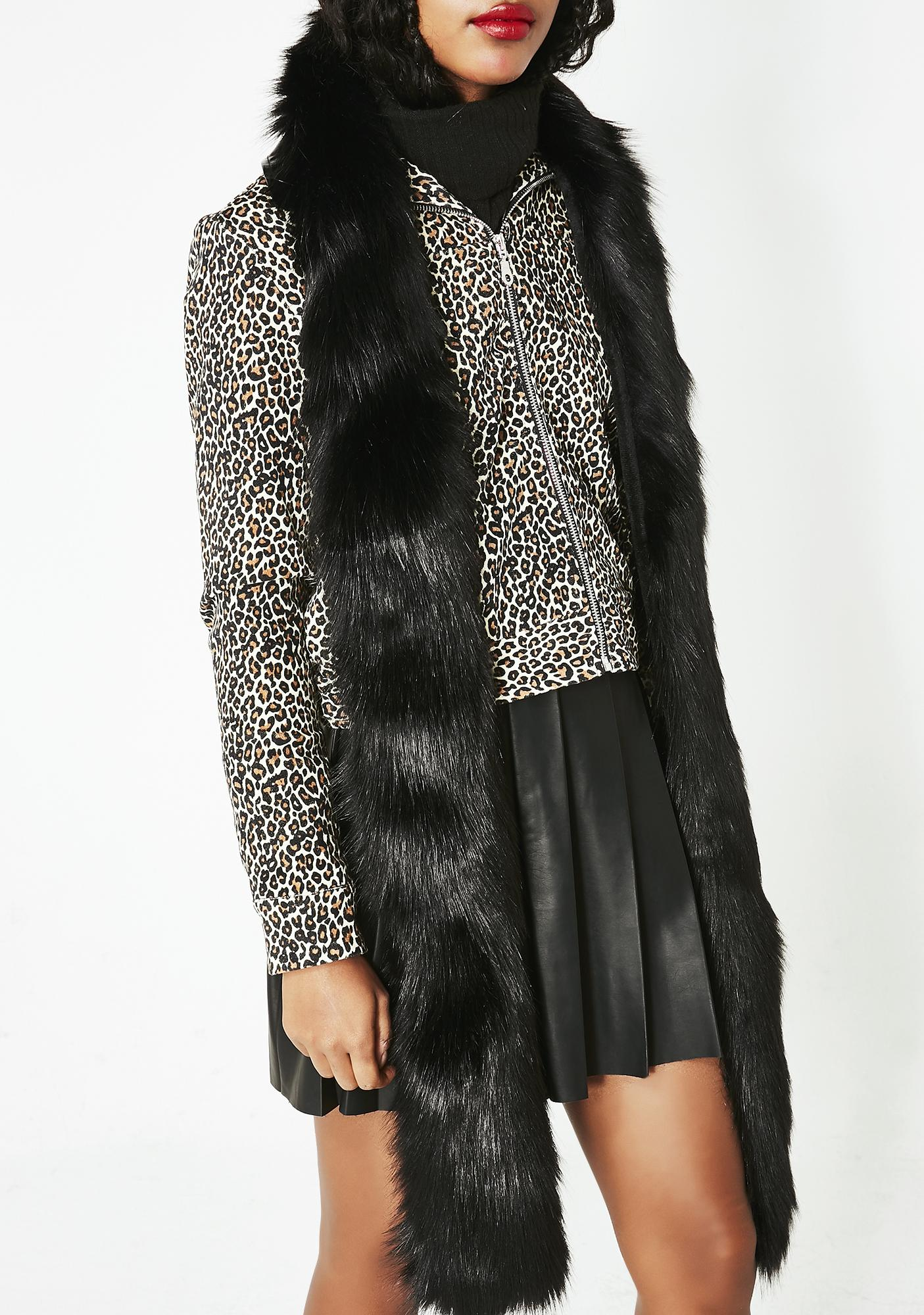 Faux Real Fuzzy Scarf