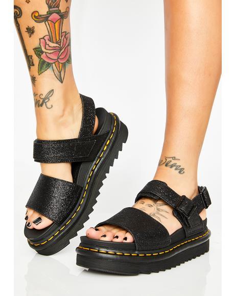Voss Glitter Sandals