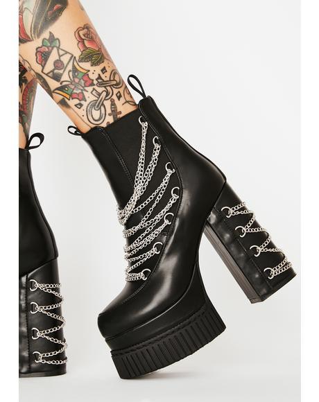Drippin' Tears Platform Boots
