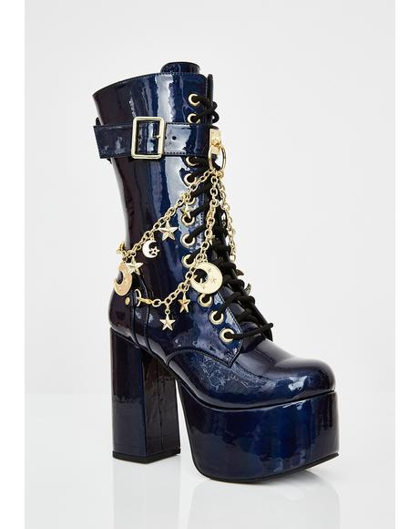 Midnight Solstice Platform Boots