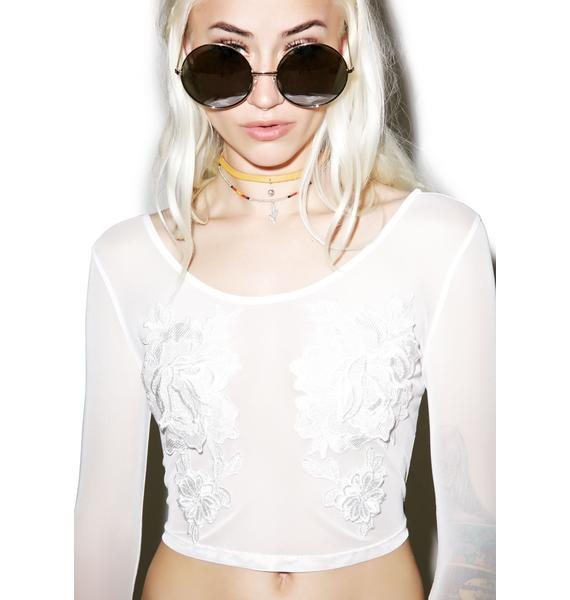 Palais Royal Mesh Crop Top