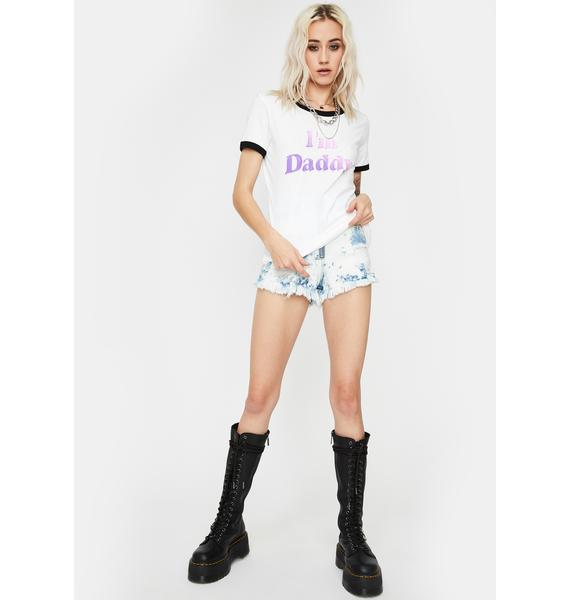 Dreamboy I'm Daddy Graphic Ringer Tee