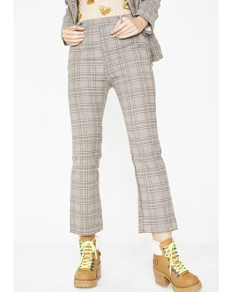 Nine To Five Plaid Pants