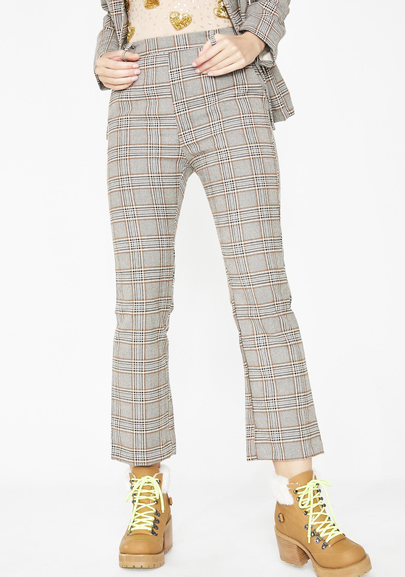 Nine To Five Plaid Pants