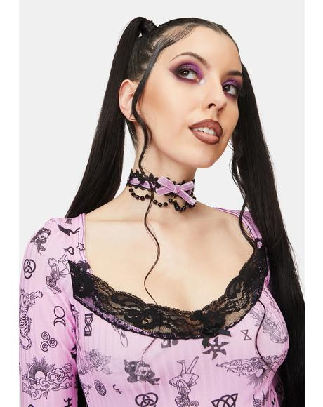 Beautiful Nightmare Lace Choker