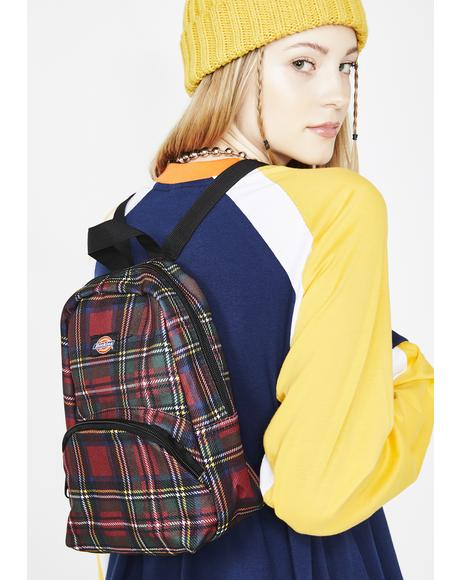 Plaid Mini Backpack