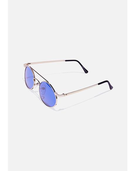Gold Zackly Aviator Sunglasses