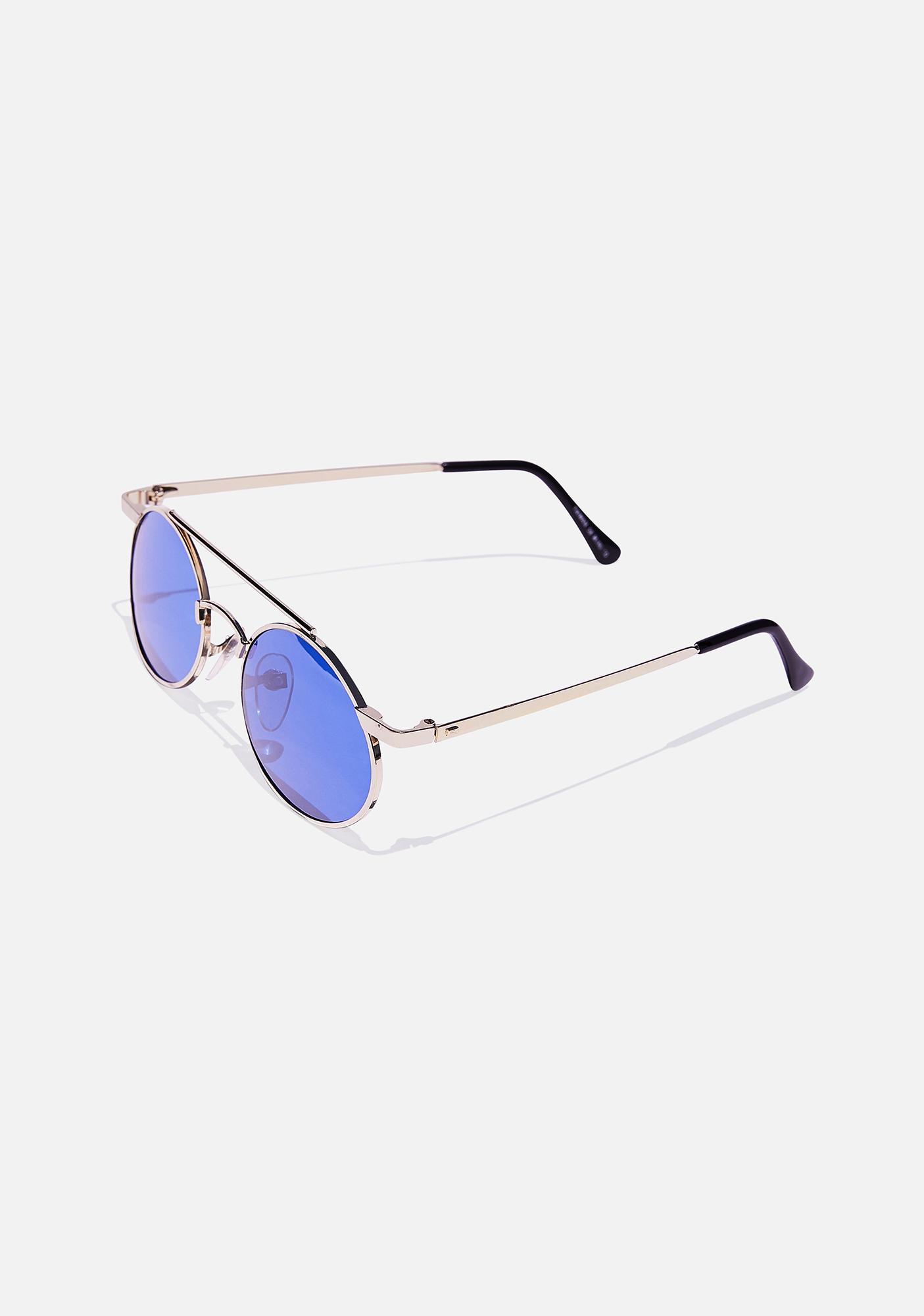 Good Times Eyewear Gold Zackly Aviator Sunglasses
