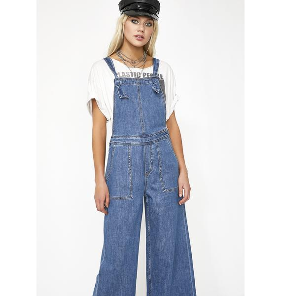 Got The Blues Denim Overalls