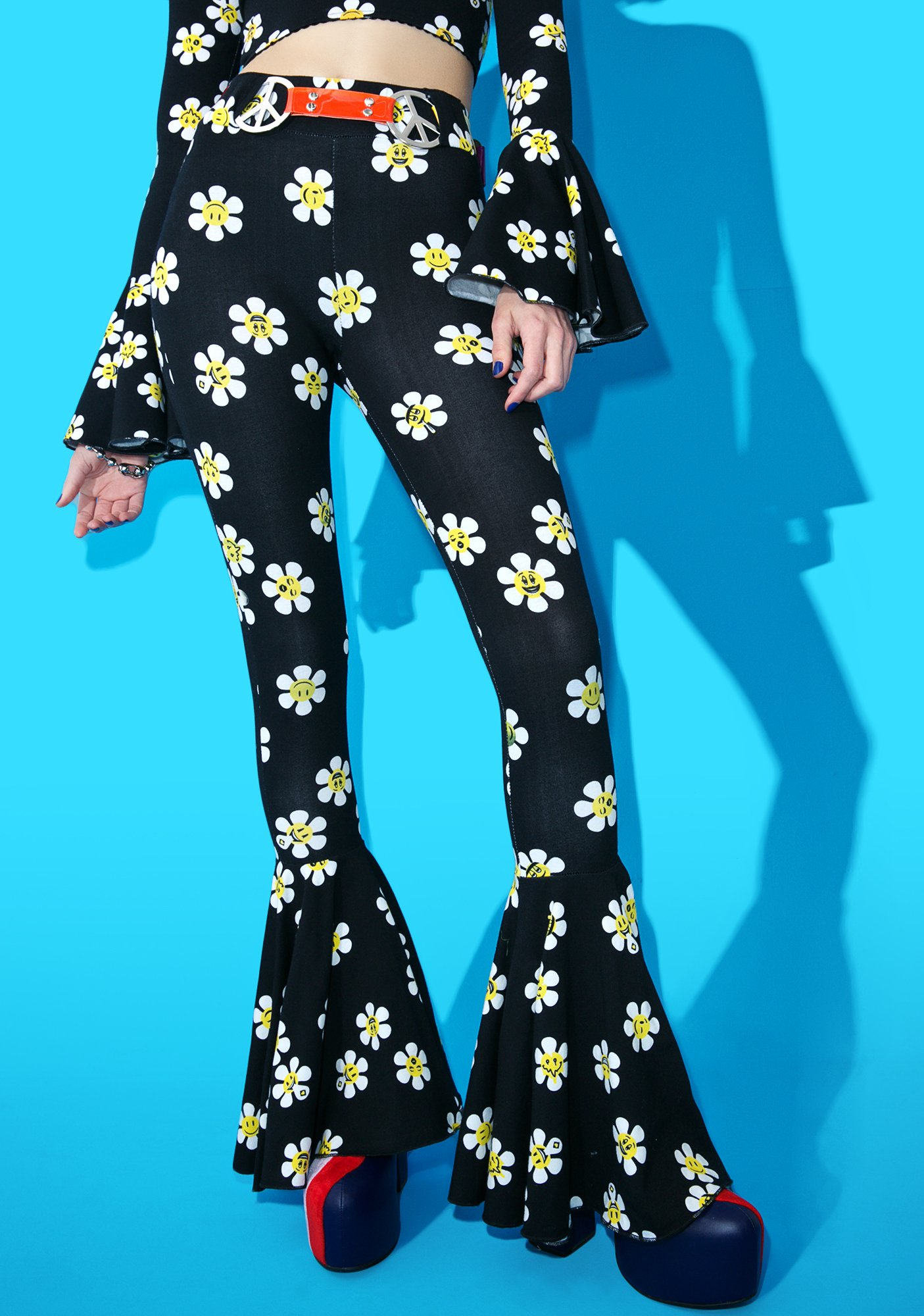 Current Mood Daisy Dropper Pull-On Flares