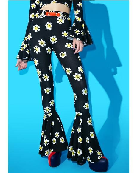 Daisy Dropper Pull-On Flares