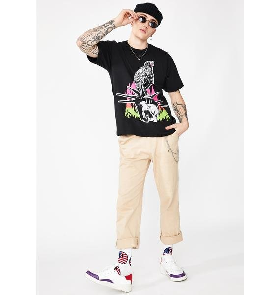Obey Death Or Liberty Graphic Tee