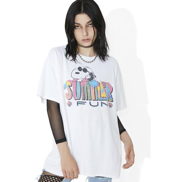 Junk Food Clothing Vacation Snoopy Tee
