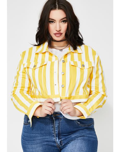 Sunny Good Feelz Striped Jacket