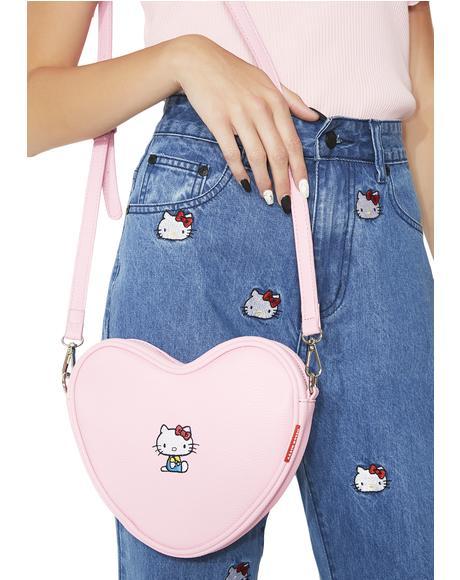 Hello Kitty Soft Heart Bag