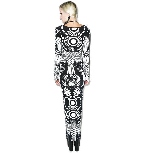 Killstar Vulture Long Sleeve Maxi Dress