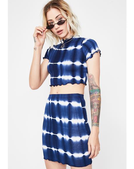 Trippy Bae Skirt Set