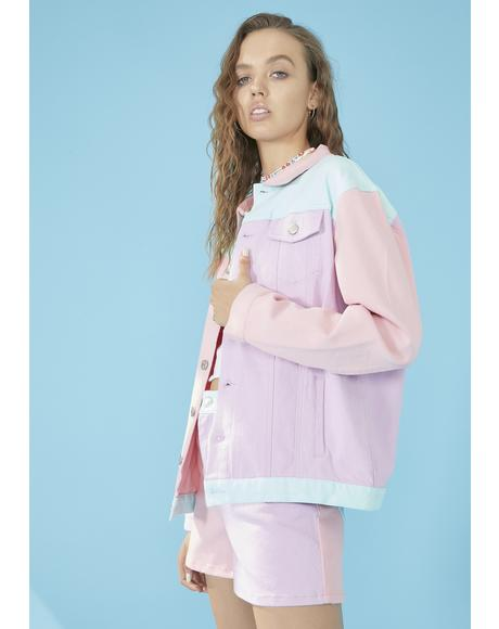 Pool Crush On U Colorblock Jacket
