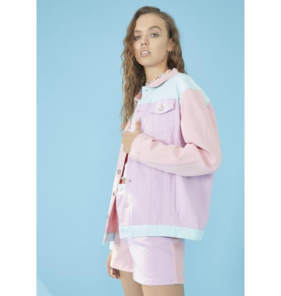 dELiA*s by Dolls Kill Pool Crush On U Colorblock Jacket