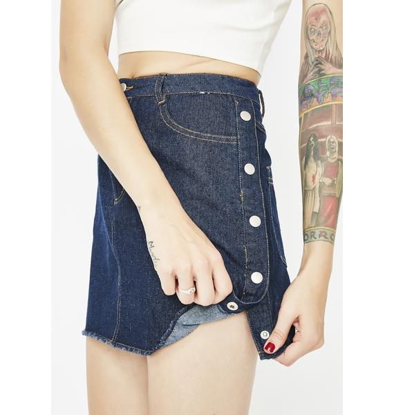 Berry Let Me Shine Denim Skirt