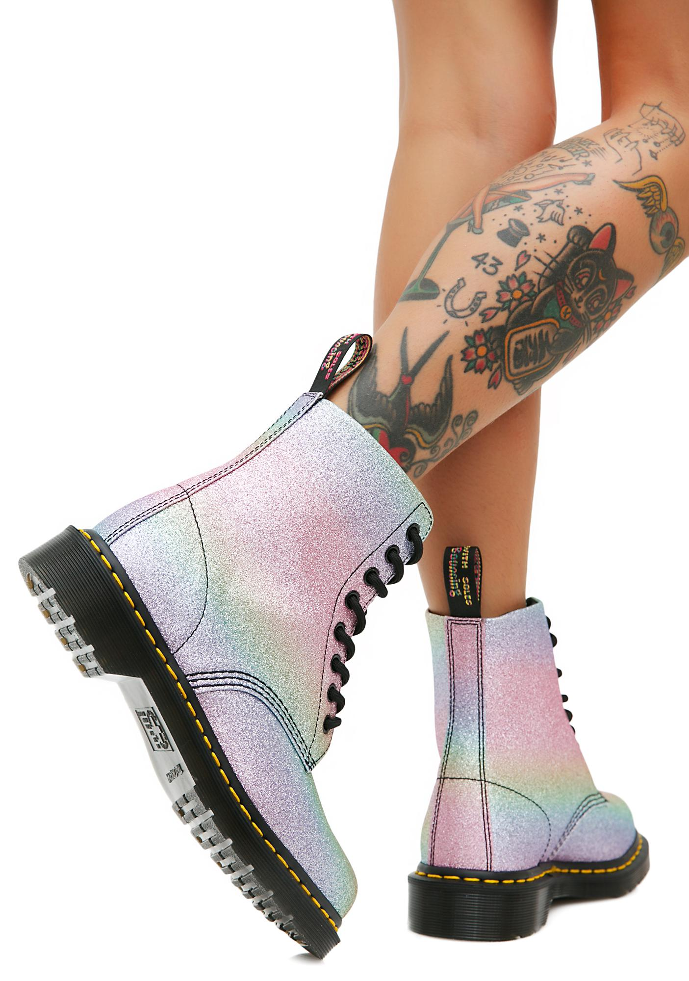 newest cheap price largest supplier for sale Rainbow Glitter Pascal Boots discount sneakernews fast delivery sale online szi92mQFqT