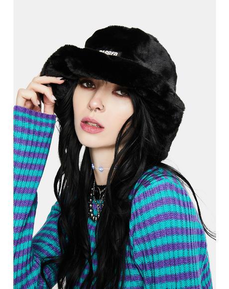Candid Faux Fur Bucket Hat