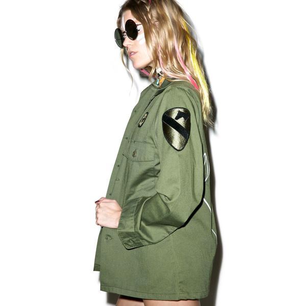 Jac Vanek Trust Me Vintage Army Jacket