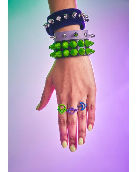 Strange Encounters Colorful Ring Set