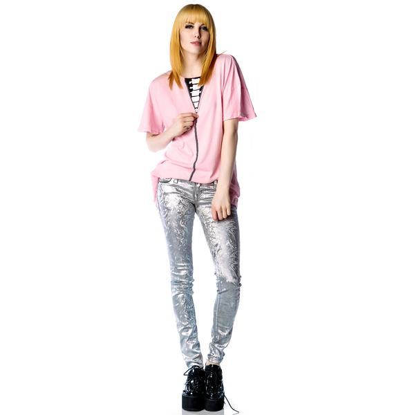 Wildfox Couture Zipper Bone Favorite T